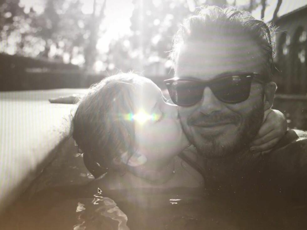 STOLT PAPPA: David Beckham la søndag ut en kjærlighetserklæring til datteren Harper som fyller fem år.  Foto: David Beckham/Instagram
