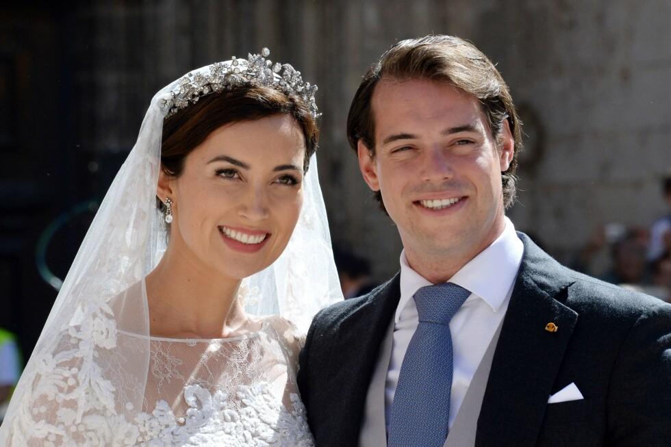 STOR GLEDE: Prins Félix og prinsesse Claire giftet seg i september for snart tre år siden.  Foto: Afp
