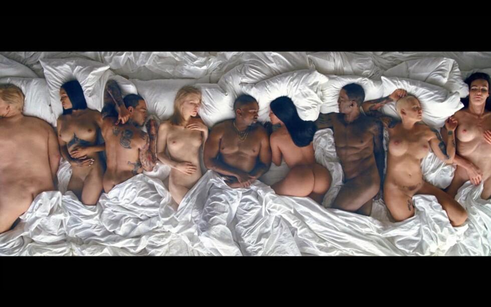 VOKSDUKKER? Antakeligvis er de nakne kjendiskroppene laget av voks. Foto: Tidal / Complex Music/ NTB Scanpix