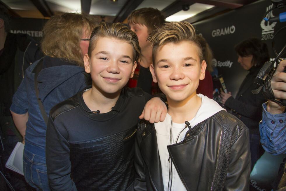 <strong>EKTE POPSTJERNER:</strong> Marcus og Martinus har blitt enormt populære etter de i 2012 vant MGP jr.  Foto: Morten Eik