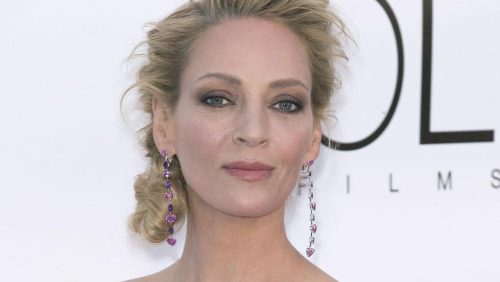 SKADD: Skuespiller Uma Thurman (46) har pådratt seg flere beinbrudd etter en hesteulykke. Her fra filmfestivalen i Cannes tidligere i år.  Foto: Pa Photos