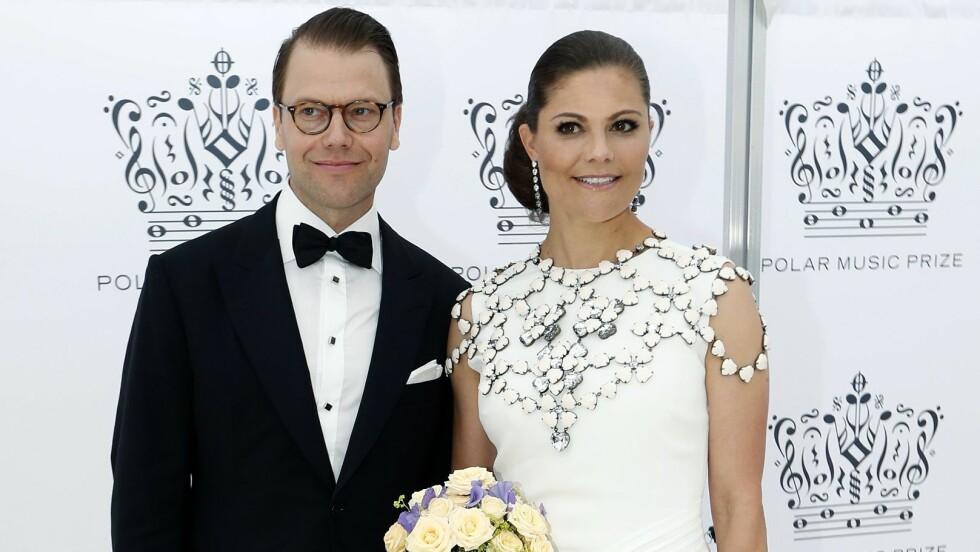 FLOTT PAR: Kronprinsesse Victoria valgte en kjole fra Ralph Lauren for The Polar Music Prize, mens prins Daniel kom i sort dress.  Foto: Aftonbladet