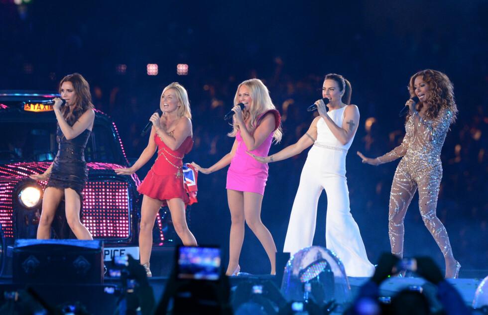 GJENFORENT: Spice Girls gjorde også comeback under O.L i Storbritannia i 2012.  Foto: Pa Photos