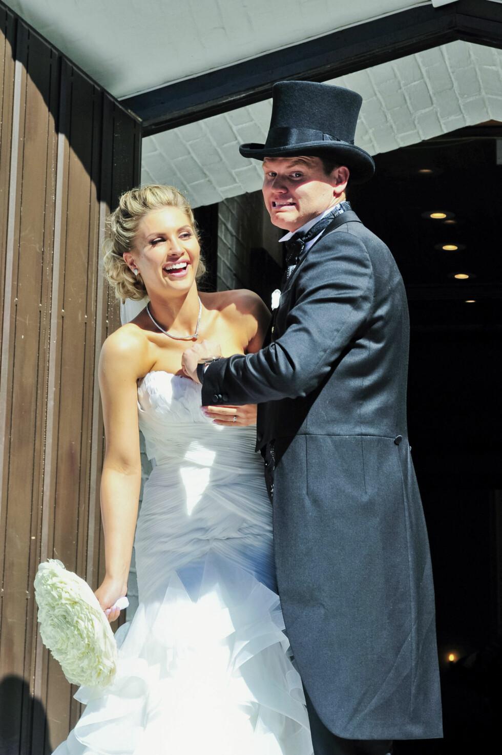 <strong>GIFTET SEG:</strong> John Arne Riise giftet seg med kona Louise Angelica i 2014. Foto: Betsson