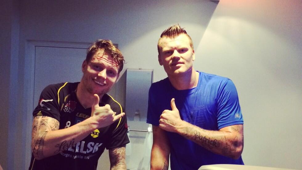 <strong>TØFF SAMTALE:</strong> John Arne Riise sier det var tøft å gi beskjed til sin bror Bjørn Helge Riise. Foto: johnarneriise.com
