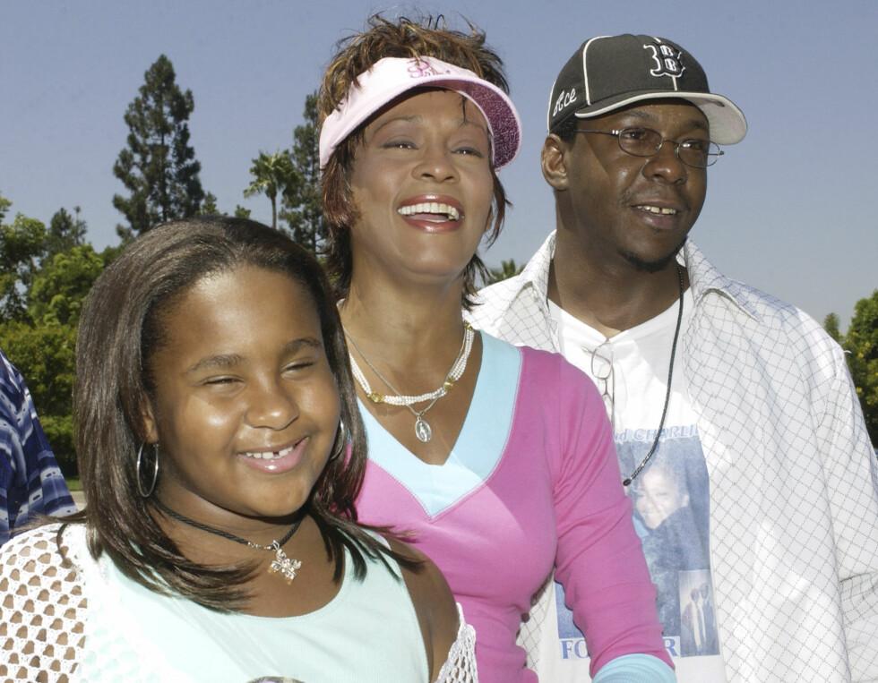 <strong>TRIST SKJEBNE:</strong> Whitney Houston og Bobby Brown var gift 1992 til 2007. De fikk datteren Bobbi Kristina sammen, men både Whitney og datteren døde av overdose.  Foto: Reuters