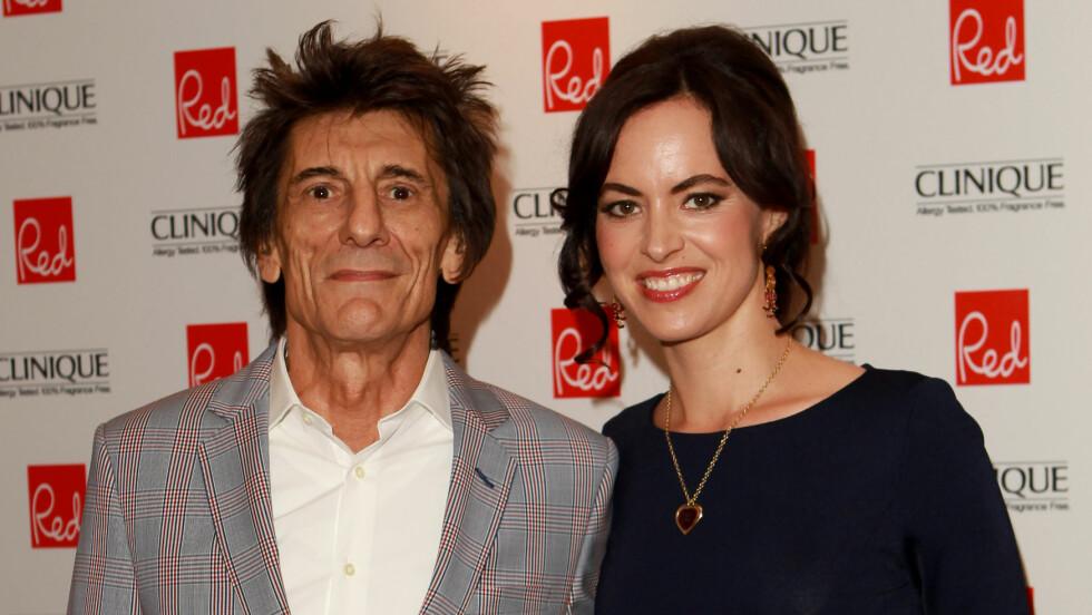 BABYLYKKE: Mandag ønsket Ronnie Wood og kona Sally Humphreys to døtre velkommen til verden.  Foto: wenn.com