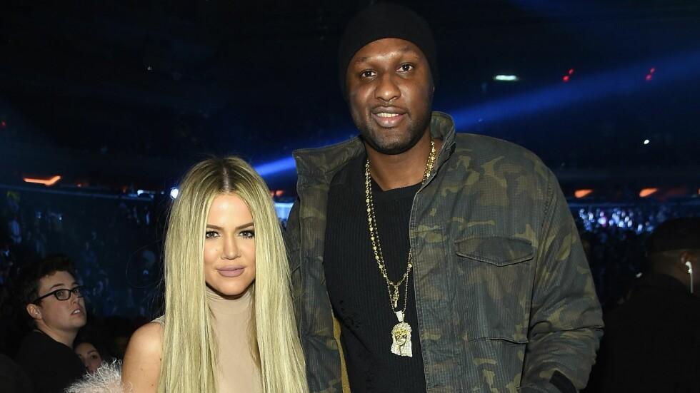 SKILLES: Khloé Kardashian er klar for å gå videre med livet sitt etter den turbulente tiden med Lamar Odom. Her var de sammen under Kanye Wests moteshow i New York i februar.  Foto: Afp
