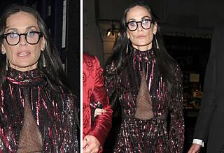 Demi Moores ansikt vekket oppsikt på Vogue-fest
