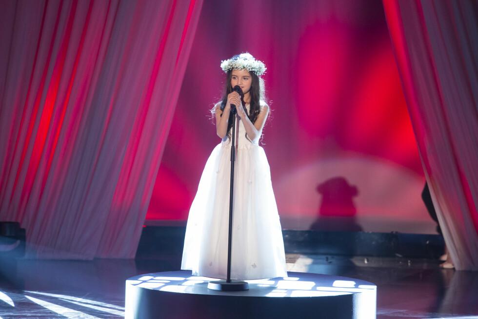 TROLLBANDT ALLE: Angelina Jordan i aksjon i TV 2-programmet «Norske Talenter» i 2014.  Foto: Tor Lindseth/ Se og Hør