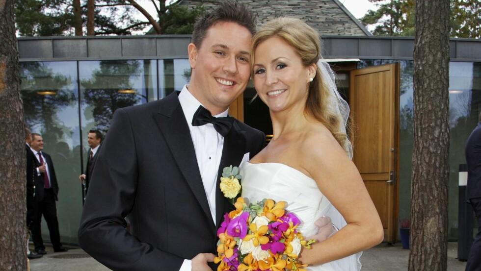 GODT GIFT: Etter å ha vært kjærester i seks år fikk Cathrine sin kjære Anders Hovdan til ektemann i 2011. De har to barn sammen. Foto: Se og Hør