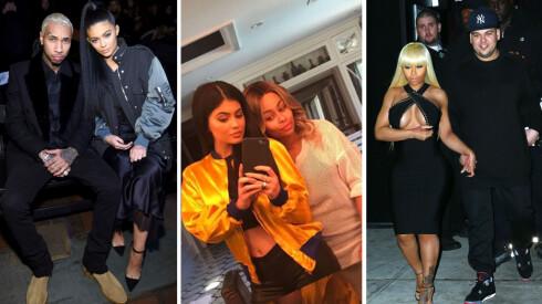 UVENTET: Kylie Jenner og Blac Chyna overrasket alle da de dukket opp sammen på Kylies Snapchat i slutten av april.  Foto: Skjermdump Snapchat