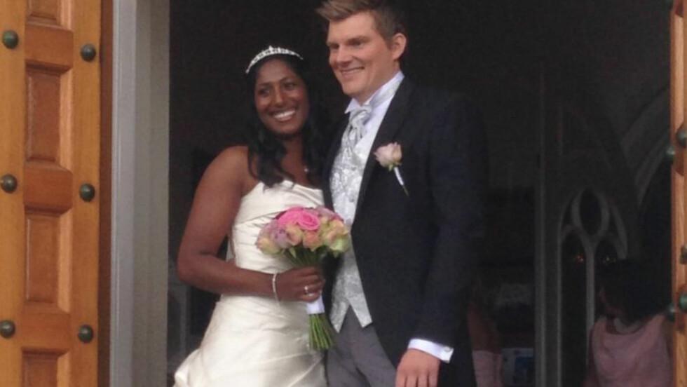 BLE FORELDRE: Siri Avlesen-Østli og Erik Løkken Østli giftet seg i august 2013. Et par år senere fikk de sitt første barn sammen.  Foto: Cathrine Løkken / Se og Hør