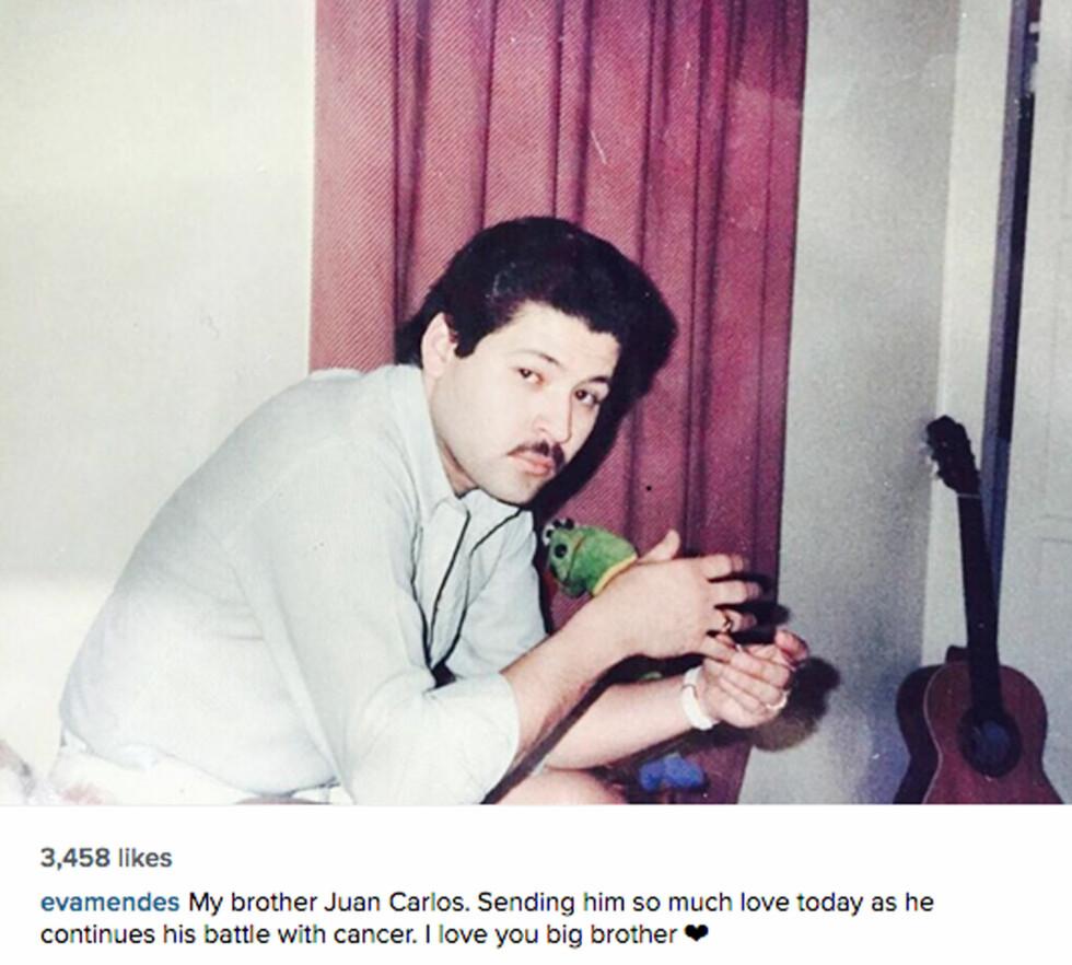 14. januar i år postet Eva dette bildet av broren på sosiale medier.  Foto: NTB Scanpix