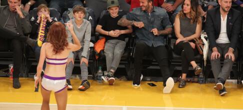 David Beckham og sønnen klarte ikke å dy seg