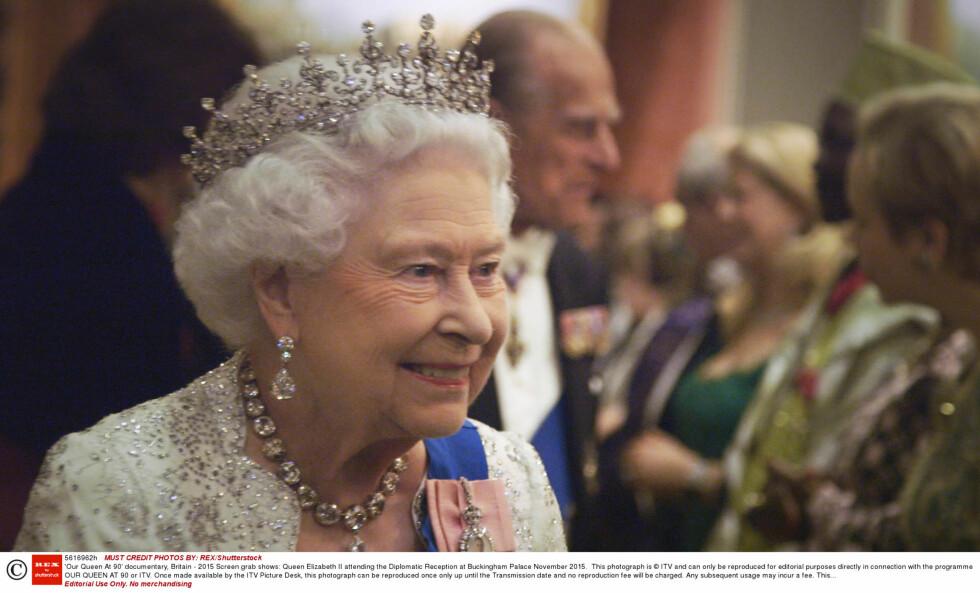 HYLLES: I en ny dokumentar hylles dronning Elizabeth før 90-årsdagen 21.april.  Foto: Rex Features