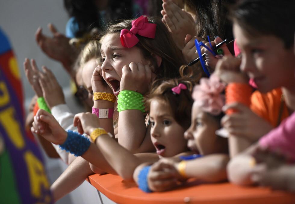ELLEVILL JUBEL: Det er ingen tvil om at både barna, ungdommene og de voksne hygget seg på Kids' Choice Awards i California i midten av mars. Foto: NTB Scanpix