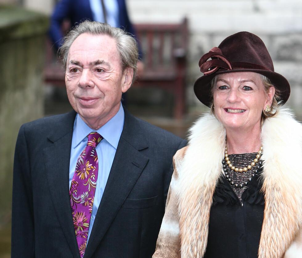 KJENDISSPEKKET: Komponist Andrew Lloyd Webber og kona Madeleine deltok under bryllupet.  Foto: wenn.com