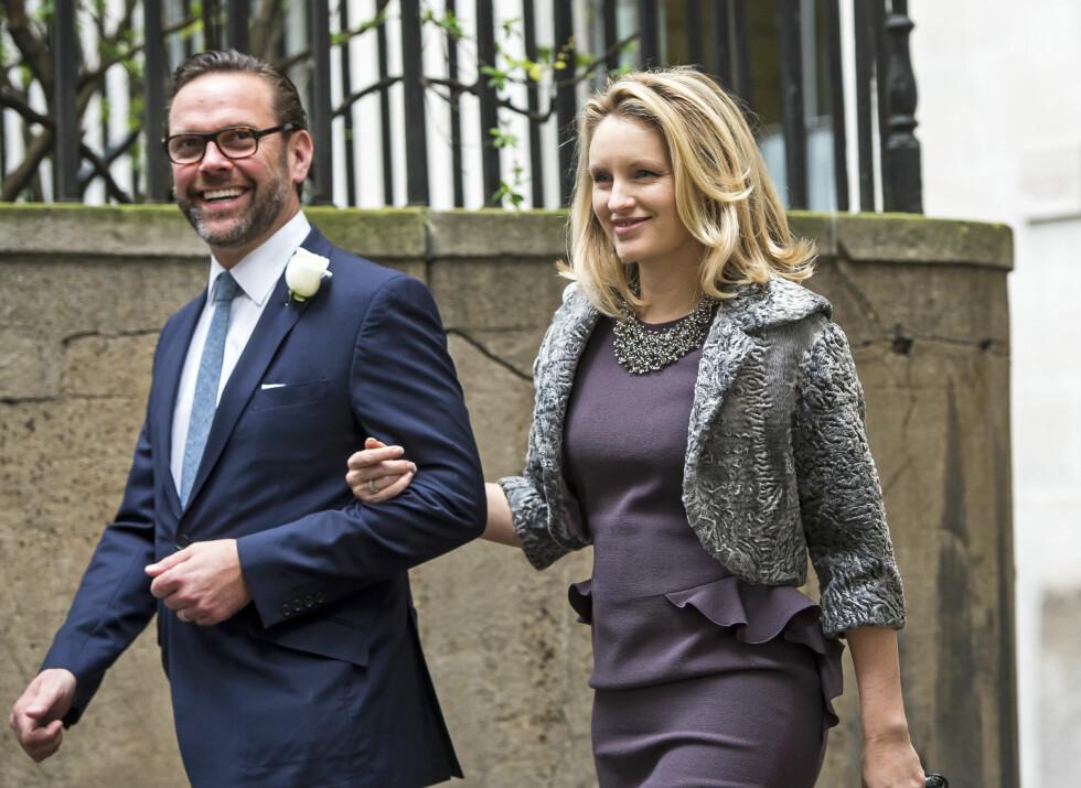 TOK MED KONA SI: Ruperts sønn James hadde med seg kona Kathryn.   Foto: SipaUSA