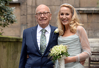 Nå er Jerry Hall og Rupert Murdoch gift