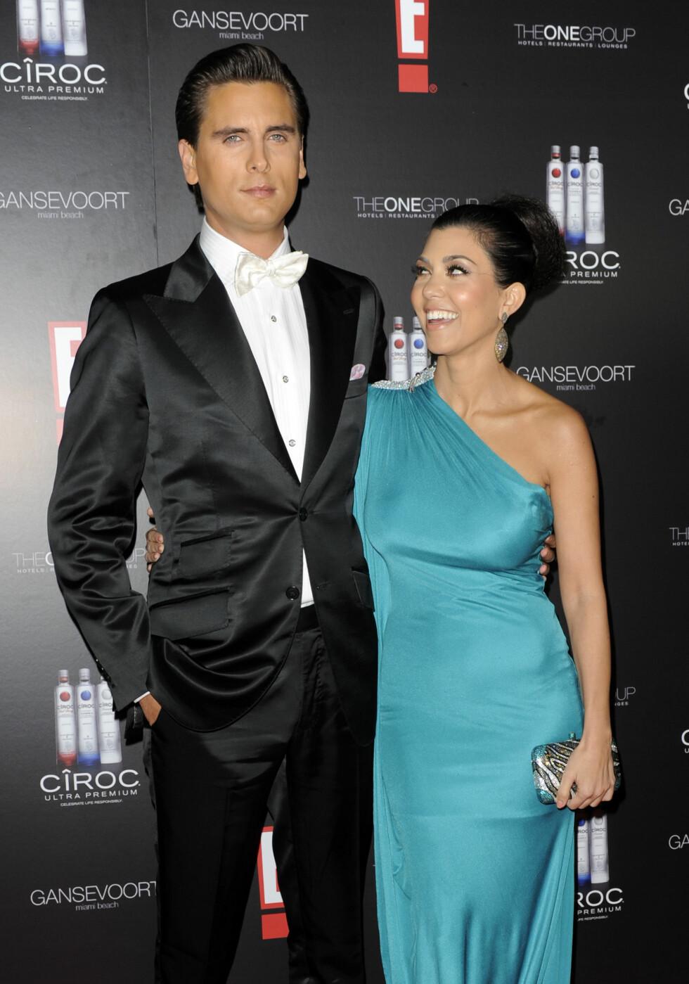 I LYKKELIGE DAGER: Da Scott Disick og Kourteny Kardashian feiret nyttårsaften sammen i Miami i 2010, så de to både friske og forelskede ut. Foto: © Chris Gordon/Corbis