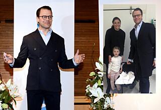 Victoria og Daniel viste frem den nyfødte prinsen for første gang
