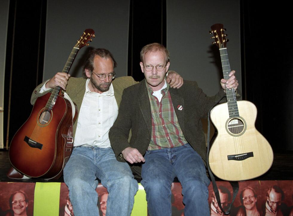 STJERNEDUO: Det er 20 år siden Ole Paus og Jonas Fjeld slo seg sammen som «To rustne karer». Foto: NTB scanpix