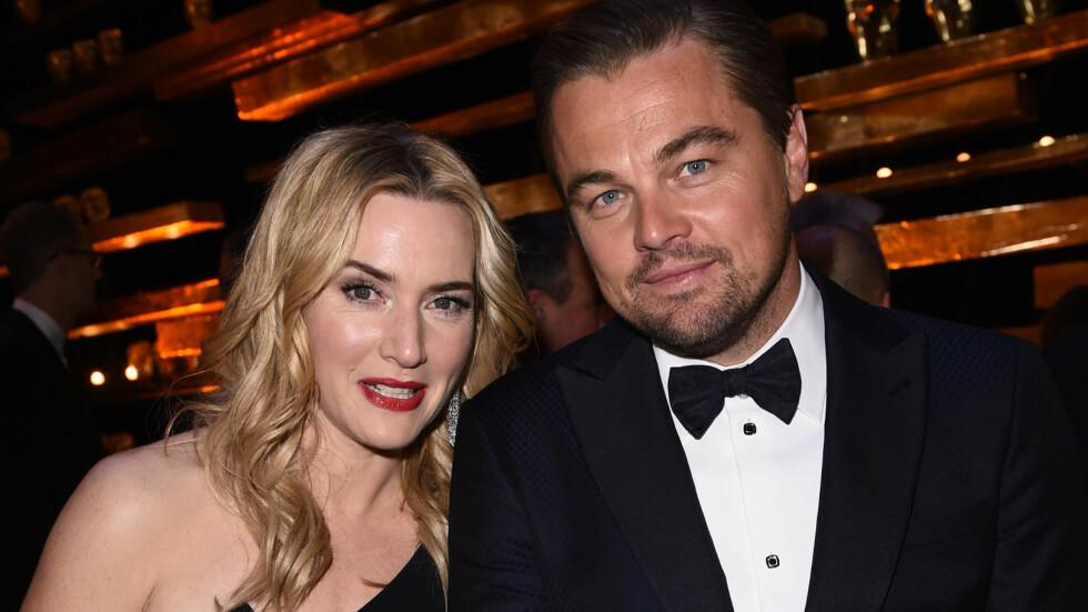 NÆRE VENNER: Her er Kate Winslet og Leonardo DiCaprio under BAFTA Awards tidligere denne måneden. Foto: NTB Scanpix
