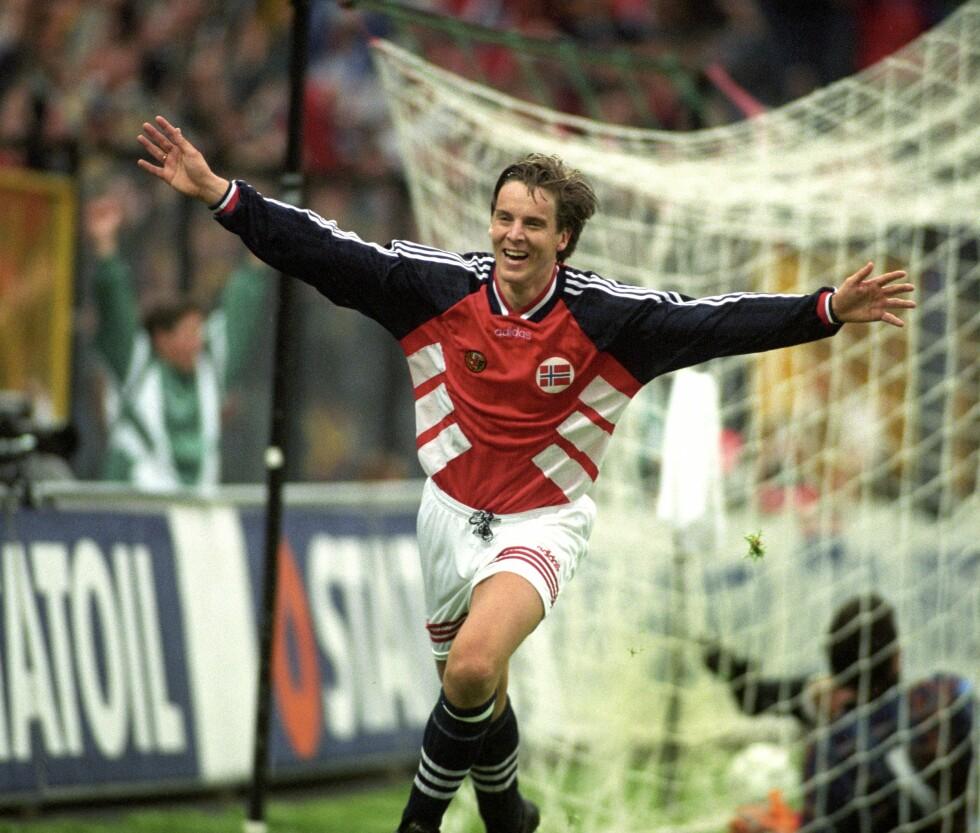 LEGENDARISK KARRIERE: Jan Åge Fjørtoft spilte 71 landskamper for Norge og scoret 20 mål. Foto: NTB scanpix