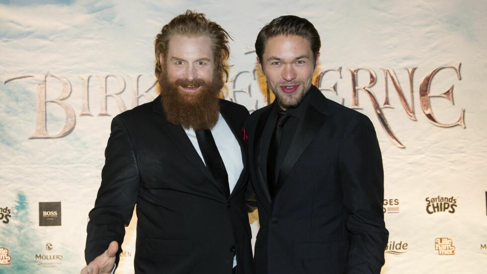 SPILLER SAMMEN: Kristofer Hivju spiller sammen med Jacob Oftebro i filmen «Birkebeinerne». Foto: NTB scanpix