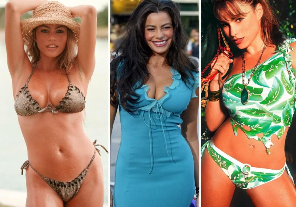 DEN GANG DA: Sofia startet karrieren sin som modell. Bilde nummer en og to er tatt i 1997 da hun var 25 år gammel. Mens bildet i midten er tatt i 2004 da hun var 32 år. Foto: NTB Scanpix