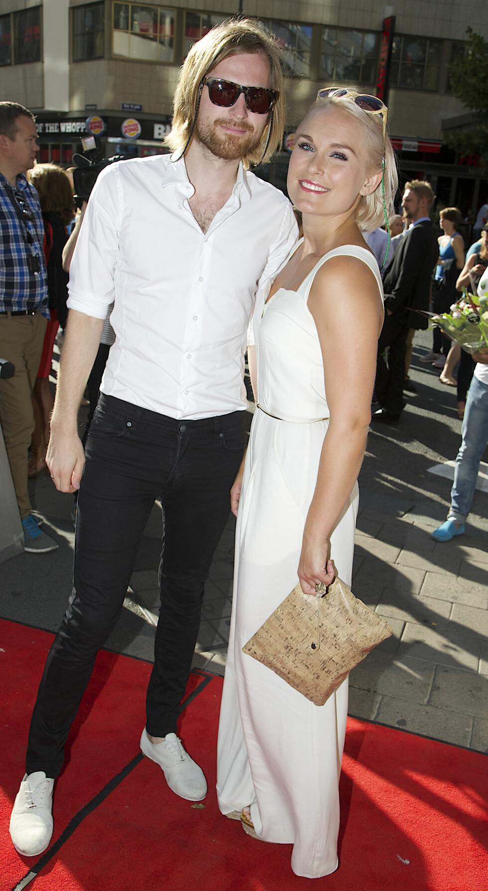 NYBAKTE FORELDRE: Eva Weel Skram og Thomas Stenersen giftet seg i 2008 og i år fikk de en sønn sammen.  Foto: Tore Skaar