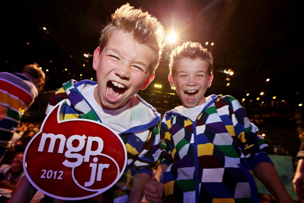 <strong>STOR SEIER:</strong> Marcus og Martinus ble allemannseie etter at de vant Melodi Grand Prix Jr. i 2012.  Foto: NTB scanpix