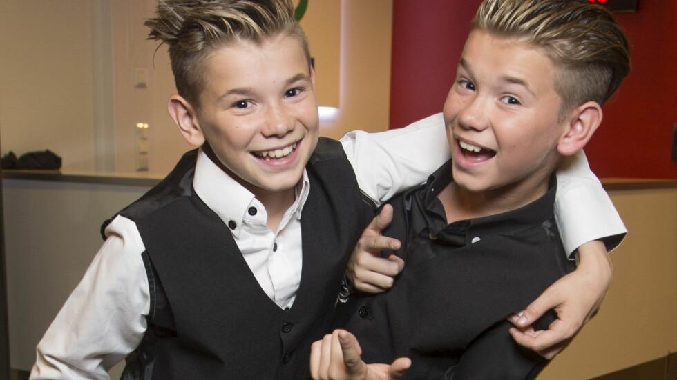 <strong>VIL HA KJÆRESTE:</strong> Popstjerne-tvillingene Marcus og Martinus Gunnarsen er utrolig populære, men de to 13-åringene savner kjærester. Foto: Tore Skaar, Se og Hør