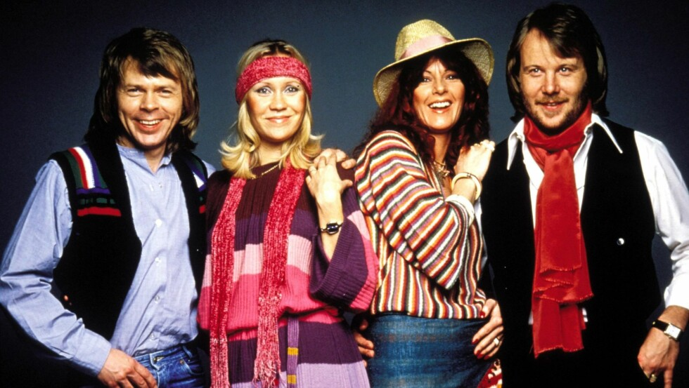 SUPERSTJERNER: Slik så ABBA ut i glansdagene på 70- og 80-tallet.