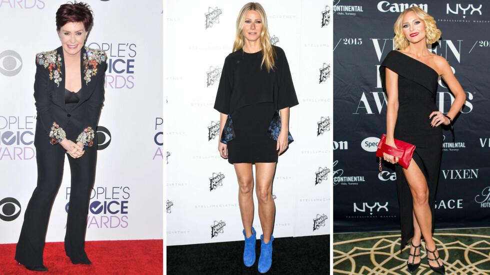 LIKER LAVKARBO: Sharon Osbourne, Gwyneth Paltrow og norske Caroline Berg Eriksen er blant kjendisene som sverger til en form for lavkarbokosthold.  Foto: NTB Scanpix