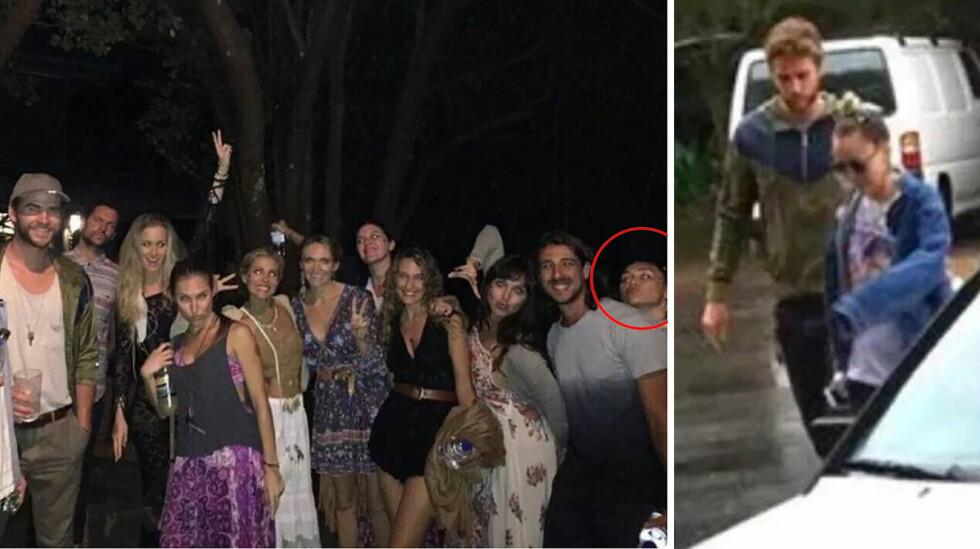 ROMANTISK PÅ FESTIVAL: I starten av januar ble Liam Hemsworth og Miley Cyrus sett sammen på musikkfestivalen Falls Festival i Australia. Nå skal de to ønske å bli mann og kone. Foto: Xposure/ @LolDamilotta Twitter/ NTB Scanpix