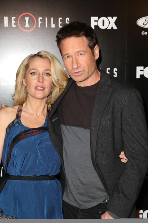 COMEBACK: Slik ser Gillian Anderson og David Duchovny ut i dag. Foto: wenn.com