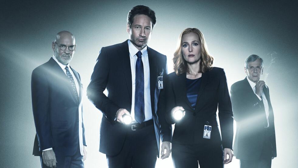 SLÅR TILBAKE: «X-Files»-agentene Mulder og Scully er tilbake på TV-skjermen i seks nye episoder. Foto: TV 3