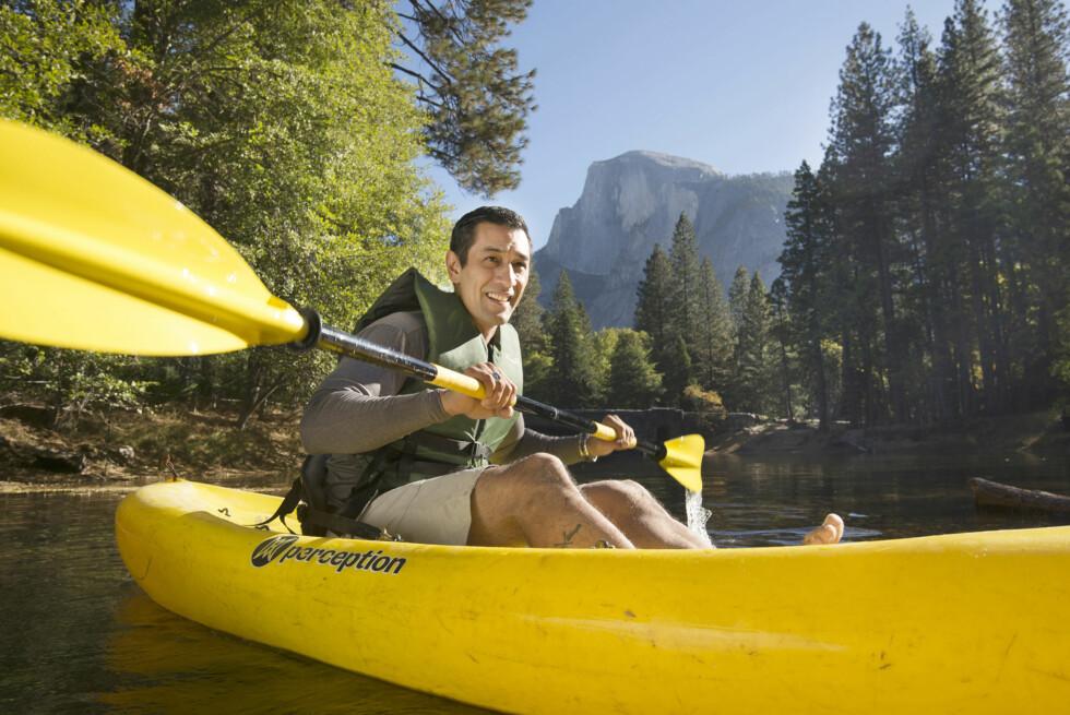ALLSIDIG TERRENG: I Yosemite kan du sykle, gå fottur, rafte, klatre og holde på.