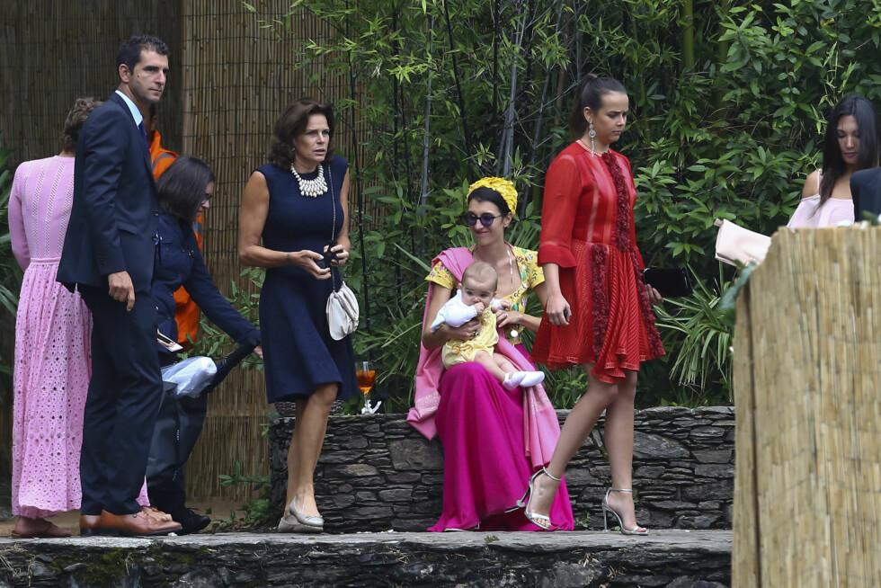 Prinsesse Stephanie av Monaco med datteren Foto: Abaca