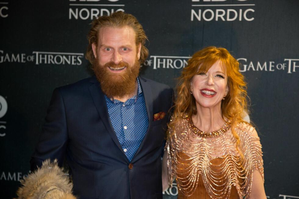 HEMMELIG GIFT: I august ga «Game of thrones»-stjernen Kristofer Hivju (36) og Gry Molvær (44) hverandre sine ja i en hemmelig seremoni. Paret har to barn sammen.  Foto: NTB scanpix