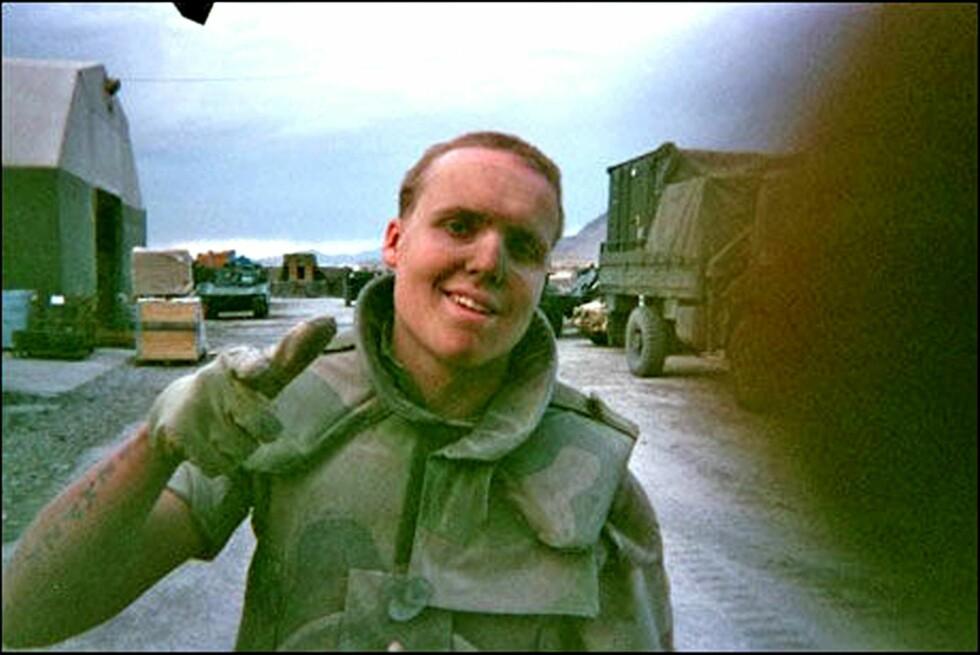 I KRIGEN: Stian Thorbjørnsen ser tilbake på tiden da han tjenestegjorde i Afghanistan som en fin tid med godt samhold, men hadde også vonde og dramatiske opplevelser.  Foto: Privat