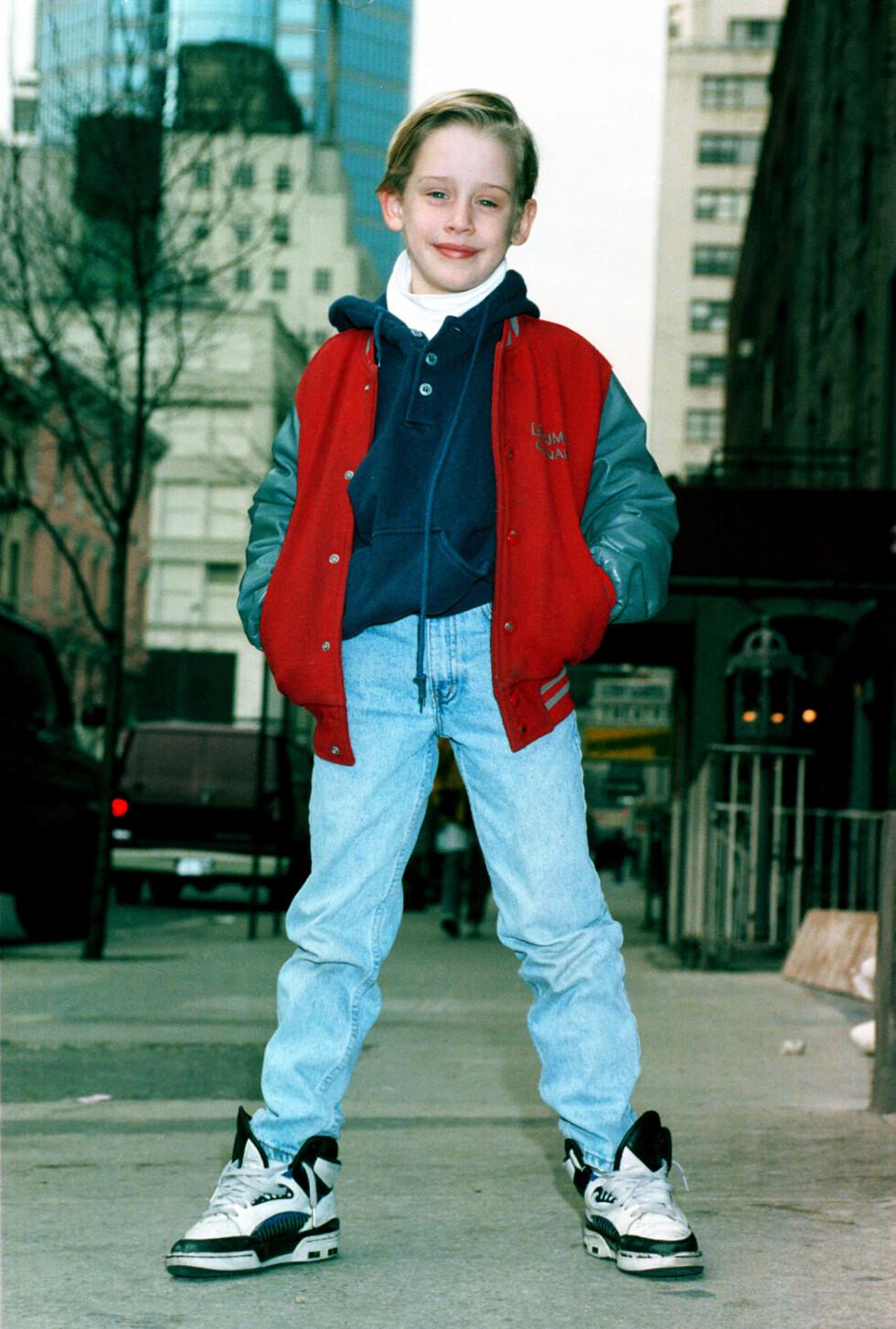 <strong>FØR:</strong> Macaulay Culkin var 10 år gammel da han fikk rollen som Kevin McCallister i «Hjemme alene». Foto: Ap