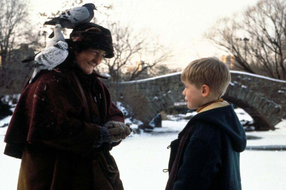 <strong>FØR:</strong> Den irske skuespilleren Brenda Fricker hadde allerede vunnet en Oscar da hun spilte i «Hjemme alene 2».  Foto: SipaUSA