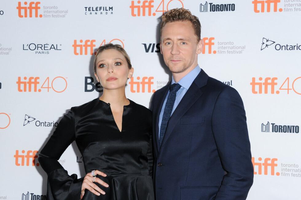 NYTT PAR: Siden mai i fjor har Elizabeth Olsen vært sammen med skuespiller Tom Hiddleston.  Foto: NTB scanpix