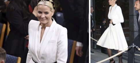 Mette-Marit på Nobelfest i kjole til 34 000 kroner