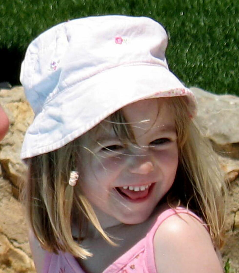 SISTE BILDE: Dette er det siste bildet av tre år gamle Madeleine McCann. Det er tatt samme dag som hun ble kidnappet den 3.mai 2007. Om hun fortsatt lever har hun rukket å bli 12 år gammel.  Foto: Afp
