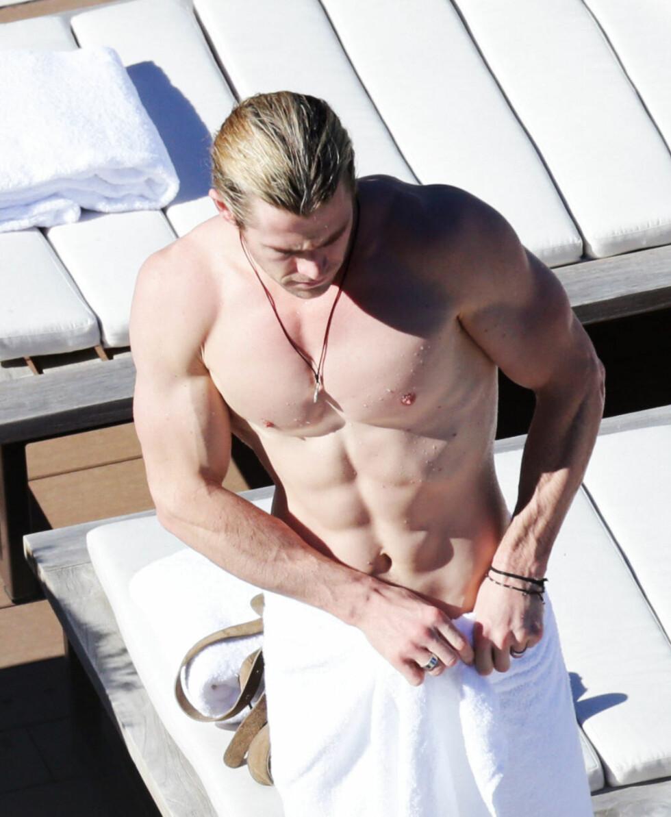 VELTRENT: Til vanlig er vi vant med å se Chris med tydelig vaskebrett og svulmende muskler.  Foto: All Over Press