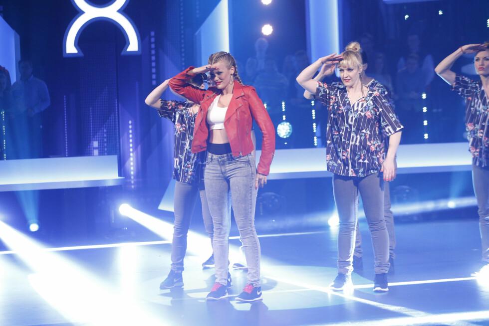 TØFF DAME: Tidligere i år deltok Sandra Lyng i TV 2-programmet «Mitt dansecrew», som ble ledet av Stian Blipp. Foto: NTB scanpix